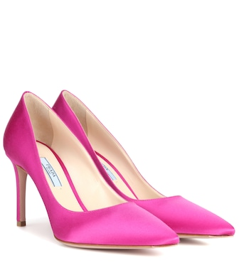 Prada - Satin pumps - mytheresa.com