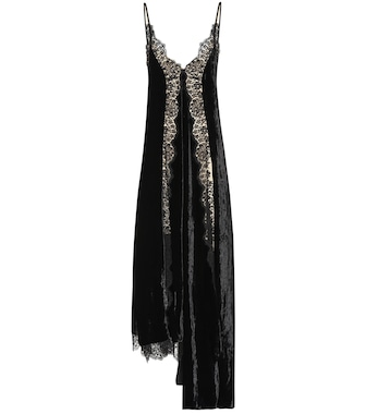 Stella McCartney - Lace and velvet dress - mytheresa.com