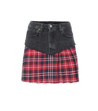 Vetements - Denim and plaid miniskirt - mytheresa.com