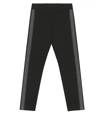 Moncler Enfant - Logo-taped jersey trackpants - mytheresa.com