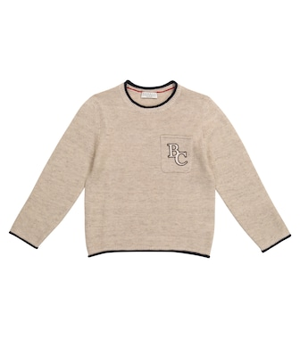 Brunello Cucinelli Kids - Logo linen-blend sweater - mytheresa.com