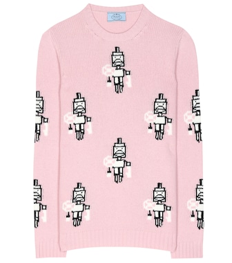 Prada - Wool and cashmere patterned sweater - mytheresa.com
