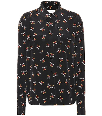 Saint Laurent - Mickey Mouse silk shirt - mytheresa.com
