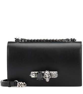 Alexander McQueen - Skull crystal shoulder bag - mytheresa.com