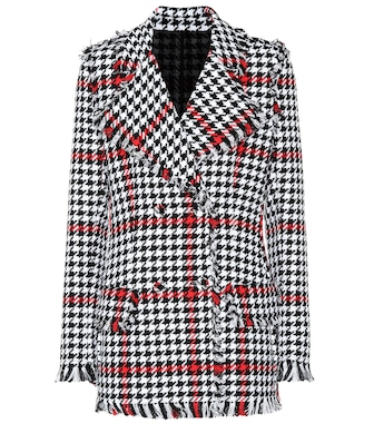 MSGM - Houndstooth tweed jacket - mytheresa.com
