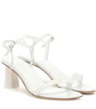 By Far - Magnolia leather sandals - mytheresa.com