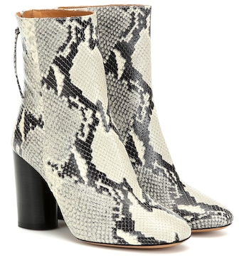 Isabel Marant - Garrett leather ankle boots - mytheresa.com
