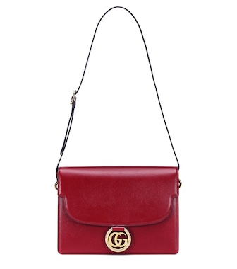 Gucci - GG Ring Medium leather shoulder bag - mytheresa.com