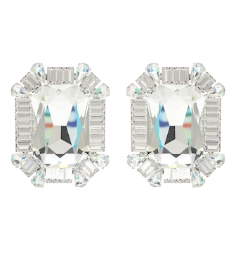 Alessandra Rich - Crystal clip-on earrings - mytheresa.com