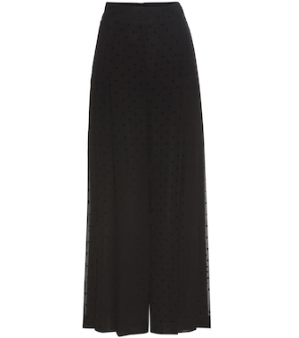 See By Chloé - Polka-dot printed crêpe trousers - mytheresa.com
