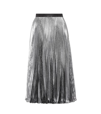 Christopher Kane - Metallic silk-blend skirt - mytheresa.com