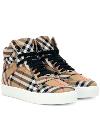 Burberry - Check high-top sneakers - mytheresa.com