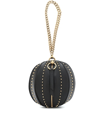 Balmain - Studded leather clutch - mytheresa.com