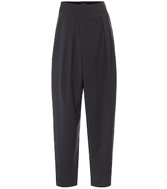 Low classic - High-rise wool-blend carrot pants - mytheresa.com