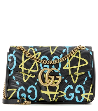 Gucci - GucciGhost GG Marmont Medium leather shoulder bag - mytheresa.com