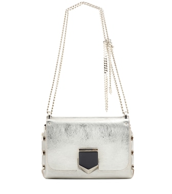 Jimmy Choo - Lockett Petite metallic leather shoulder bag - mytheresa.com