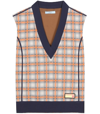Prada - Checked sweater vest - mytheresa.com