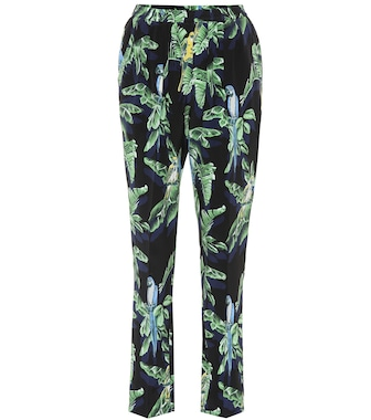 Stella McCartney - Printed silk trousers - mytheresa.com