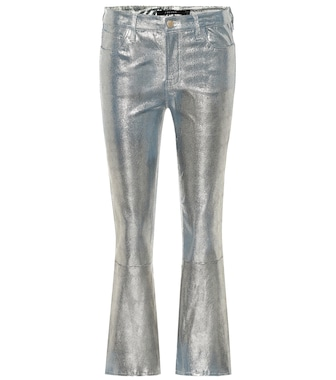 J Brand - Selena mid-rise crop leather pants - mytheresa.com