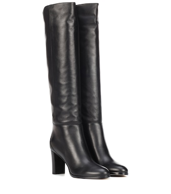 Jimmy Choo - Madalie 80 leather boots - mytheresa.com
