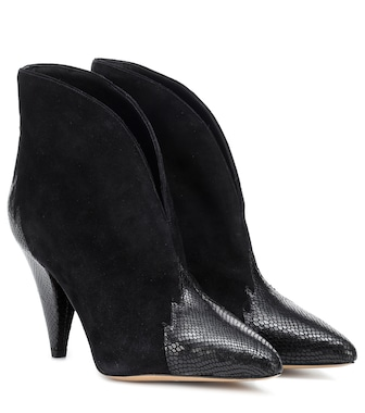 Isabel Marant - Archee suede and leather ankle boots - mytheresa.com