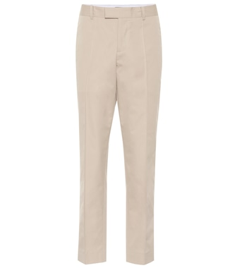 Bottega Veneta - High-rise straight cotton pants - mytheresa.com