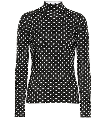 Balenciaga - Polka-dot high-neck sweater - mytheresa.com