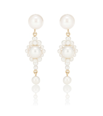 Sophie Bille Brahe - Venezia 14kt gold earrings with pearls - mytheresa.com