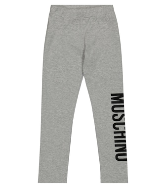 Moschino Kids  - Logo stretch-cotton jersey leggings - mytheresa.com