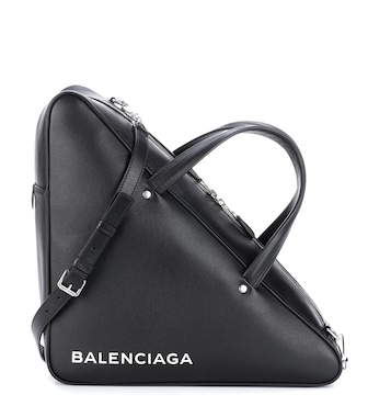 Balenciaga - Triangle Duffle leather tote - mytheresa.com