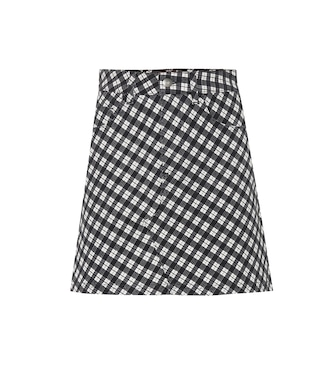 AlexaChung - Checked stretch cotton miniskirt - mytheresa.com