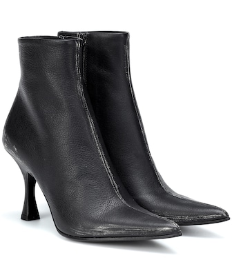 MM6 Maison Margiela - Leather ankle boots - mytheresa.com