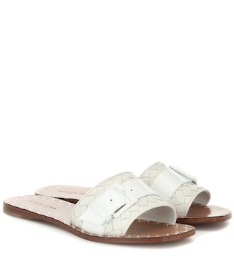 Bottega Veneta - Ravello leather slides - mytheresa.com