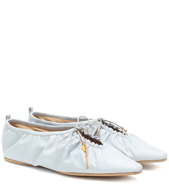 Stella McCartney - Faux leather ballet flats - mytheresa.com