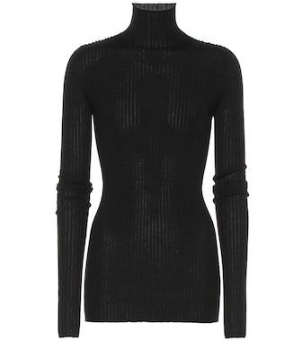 Jil Sander - Wool and silk turtleneck sweater - mytheresa.com