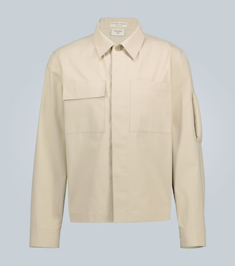 Bottega Veneta - Cotton overshirt with arm detail - mytheresa.com