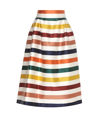 Carolina Herrera - Striped cotton and silk midi skirt - mytheresa.com