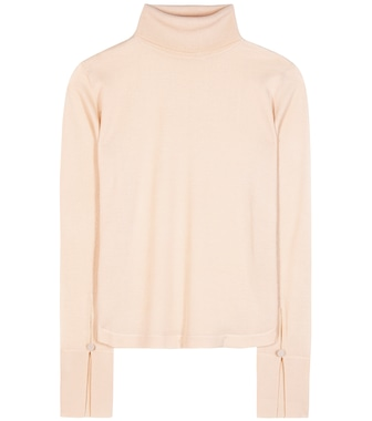 Chloé - Wool, silk and cashmere turtleneck sweater - mytheresa.com