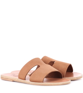 Ancient Greek Sandals - Apteros nubuck leather sandals - mytheresa.com