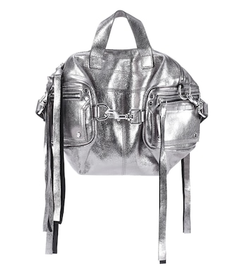 McQ Alexander McQueen - Metallic leather shoulder bag - mytheresa.com