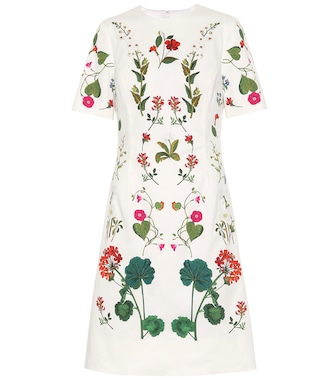Oscar de la Renta - Printed cotton dress - mytheresa.com