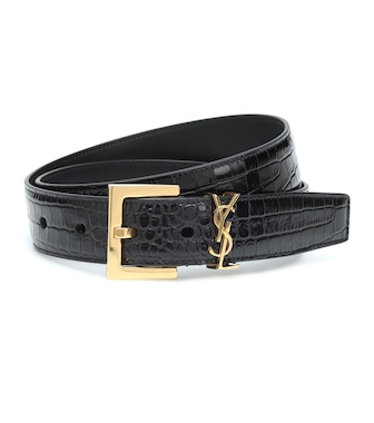 Saint Laurent - Monogram leather belt - mytheresa.com