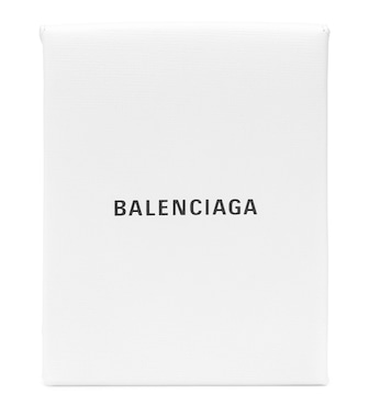 Balenciaga - Shopping Envelope leather clutch - mytheresa.com