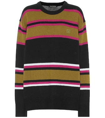 Acne Studios - Striped wool sweater - mytheresa.com