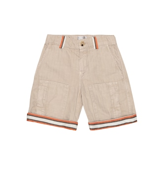 Brunello Cucinelli Kids - Exclusive to Mytheresa – Cotton-gabardine Bermuda shorts - mytheresa.com