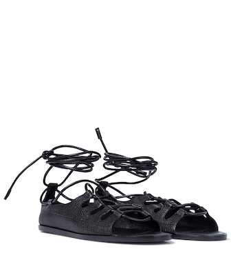 The Row - Sandalen Gilli aus Leder - mytheresa.com