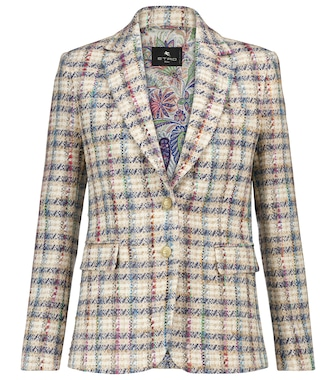 ETRO - Checked bouclé tweed blazer - mytheresa.com