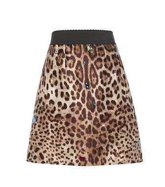 Dolce & Gabbana - Embellished silk and wool skirt - mytheresa.com