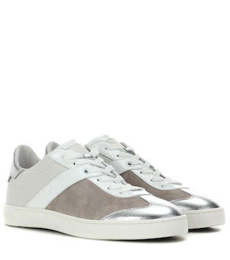 Tod's - Sneakers in pelle e suede - mytheresa.com