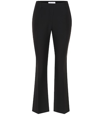 Valentino - Wool and silk crêpe trousers - mytheresa.com